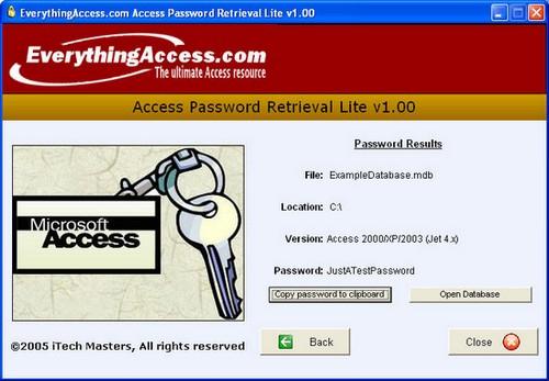 Access Password Retrieval Lite