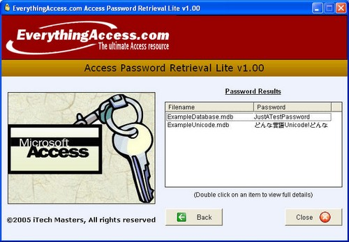 Access Password Retrieval Lite