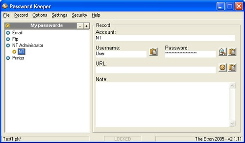 Passwordkeeper