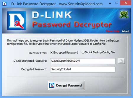 DLink Password Decryptor