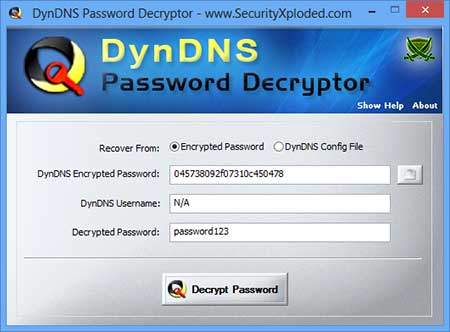 DynDNS Password Decryptor