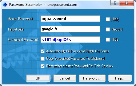 Password Scrambler